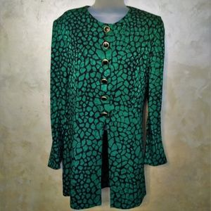 Vintage 90's Silk Tunic Jacket Blouse EUC 10